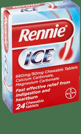 Рение (Rennie) ICE таблетки за дъвчене x24